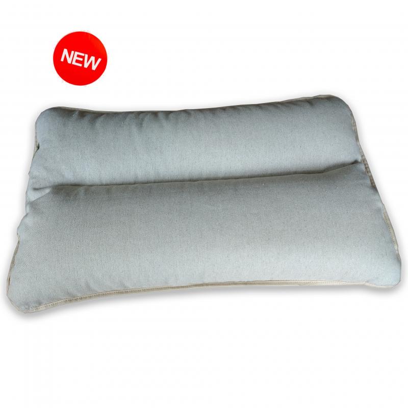 """Подушка с валиком для сна с двуслойным наполнителем COMFORT """"LikeYoga"""" модель 09-20 (40x60 см, терморегуляция, микромассаж)"""