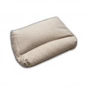 """Подушка с валиком для сна с наполнителем из гречихи """"LikeYoga"""" модель 20-12 (48x58 см, микромассаж, гиппоалерген, терморегуляция)"""