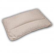 """Подушка с валиком для сна с наполнителем из гречихи """"LikeYoga"""" модель 23-12 (50x70 см, микромассаж, терморегуляция, гипоаллерген)"""