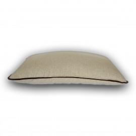"""Подушка для сна льняная с двуслойным наполнителем COMFORT """"LikeYoga"""" модель 24-20 (40x60 см, терморегуляция, микромассаж)"""