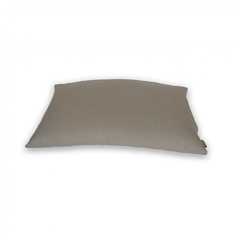 """Подушка для сна льняная на молнии с наполнителем из гречихи """"LikeYoga"""" модель 26-17 (38x58 см, микромассаж, гипоаллерген)"""