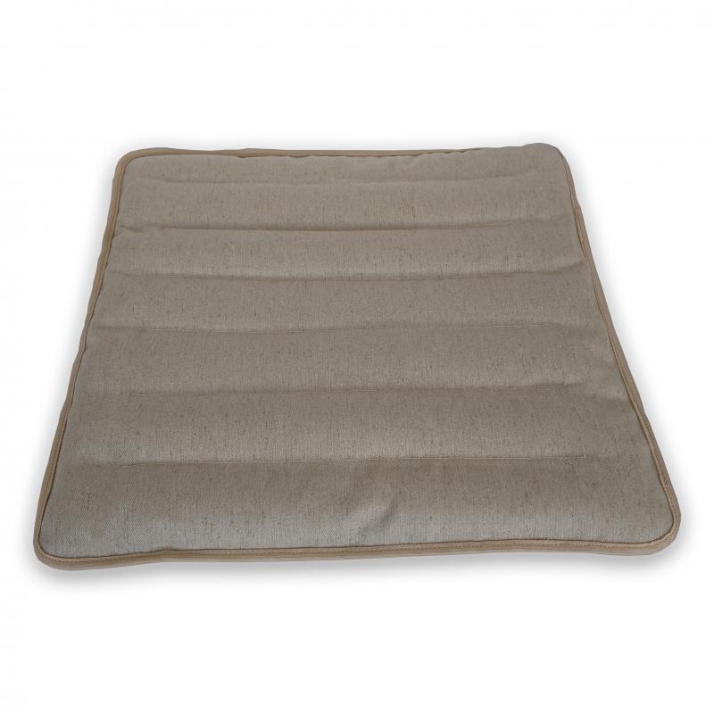 """Подушка для сидения льняная с наполнителем из гречихи """"LikeYoga"""" модель 27-12 (45x45 см, микромассаж, терморегуляция, аэрация)"""