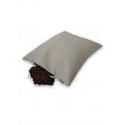 "Подушка для сна на молнии с наполнителем из гречихи ""LikeYoga"" модель 29-17 (38x48 см, гипоаллерген, микромассаж, терморегуляция)"