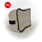 """Подушка-Подголовник из льна для автомобильного сидения """"LikeYoga"""" модель 26-20 (18x26 см, микромассаж, гипоаллерген, аэрация)"""